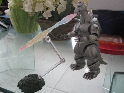 The SH MonsterArts MechaGodzilla 93 came with the MegaBuster ray accessory, which was one of  Mecha-Godzilla 93's energy weapons