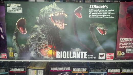 The package for the SH MonsterArts Biollante, which is the most expensive figure in the line.