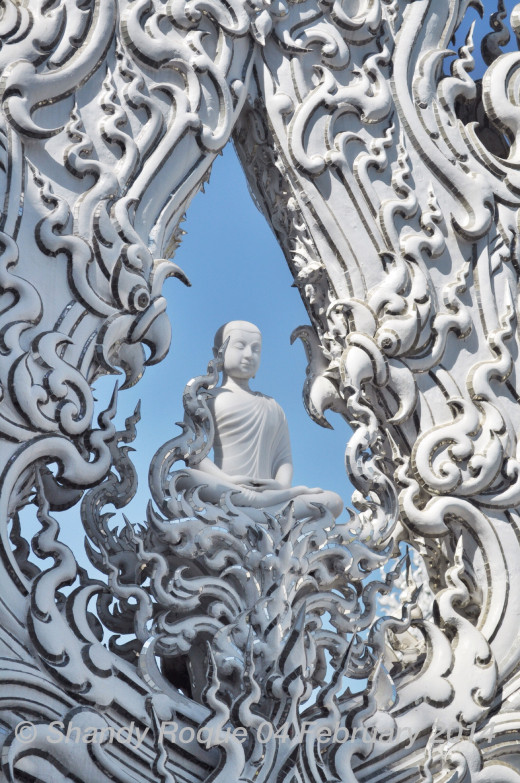 The Buddha in his pure glory. Location: Wat Rong Khun (The White Temple)