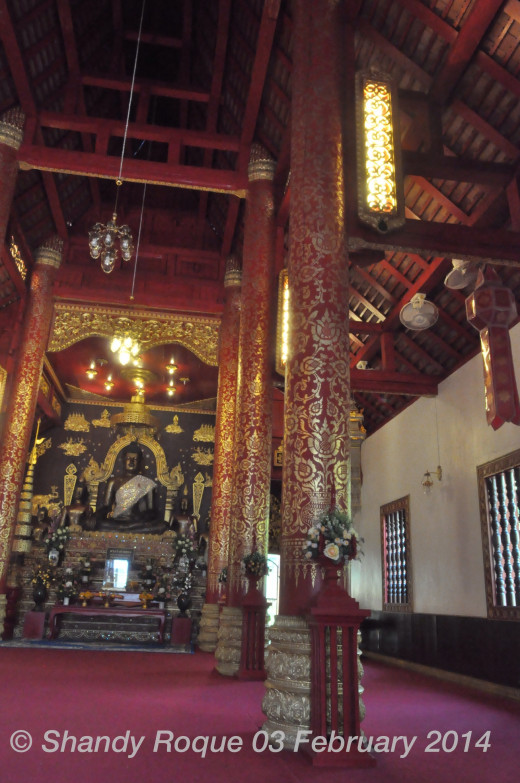 The prayer hall of Wat Phra Kaeo