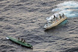 Mexican navy capturing cocaine sub
