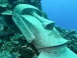 A moai under-water