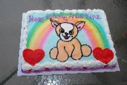 My Daughter's Webkinz Theme Birthday cake