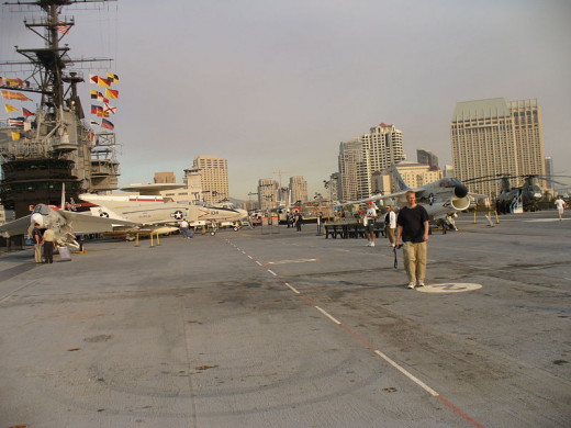 The flight deck of the USS Midway Museum on November 22, 2006 was photographed by Isaac Crumm.