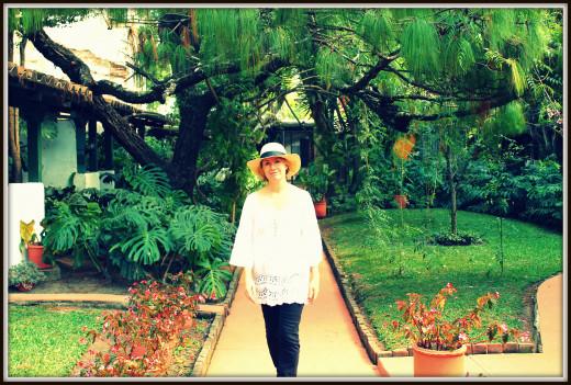 Taking a walk through the gardens