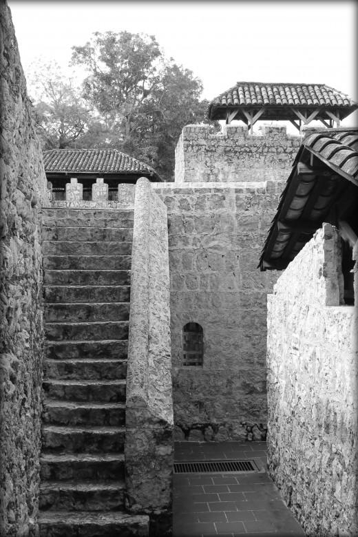 The roof of Castillo de San Felipe