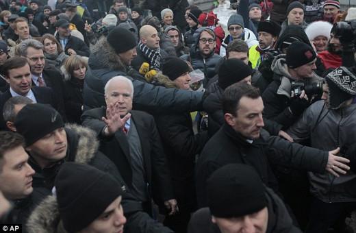 John McCain at pro-EU/Fascist Rally
