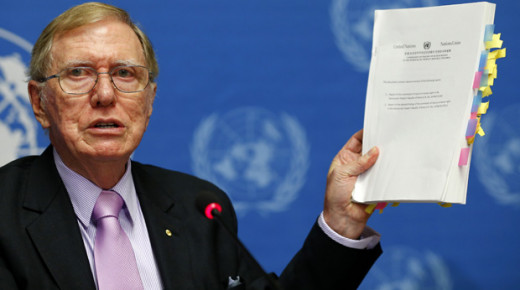 Michael Kirby with faked UN propaganda document for war against People's Korea