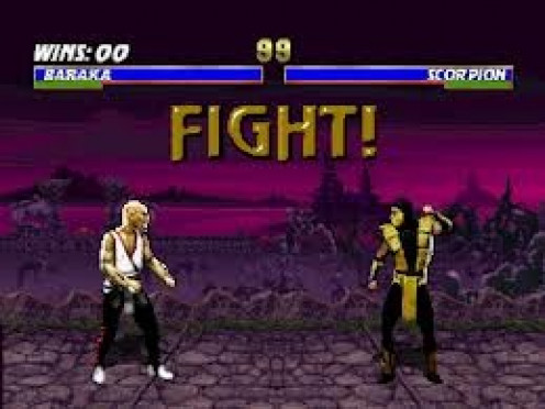 Mortal Kombat 4 features one on one action with deadly finishing moves assigned to each character. The game is rated M for mature because it features lots of blood, gore and extreme violence.