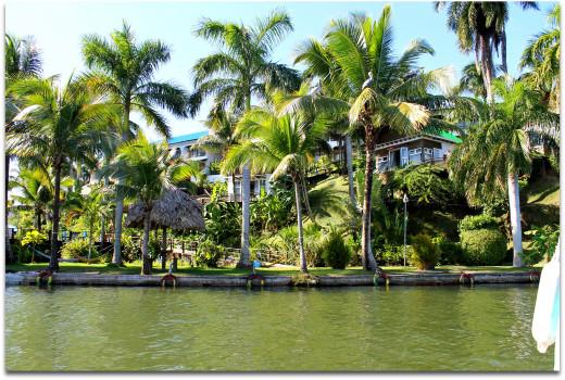 Arriving by lancha at Hotel Villa Caribe, Livingston