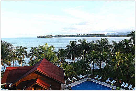 View of Amatique Bay from Hotel Villa Caribe