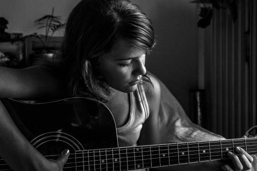 Jo on Guitar