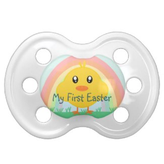 Baby's First Easter Pacifier Available at Zazzle