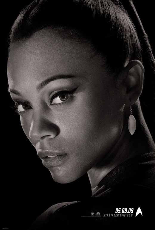 Zoe Saldana as Uhura promotional poster