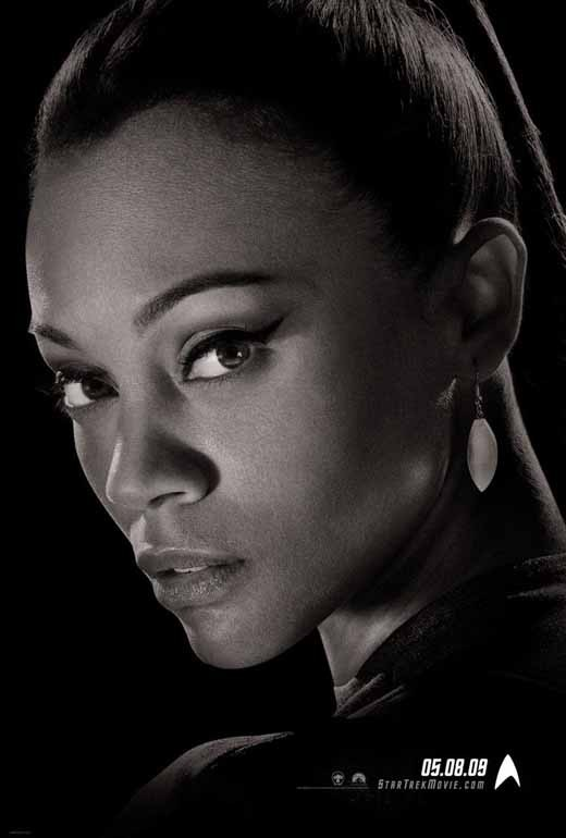 Zoe Saldana as Uhura promotional poster