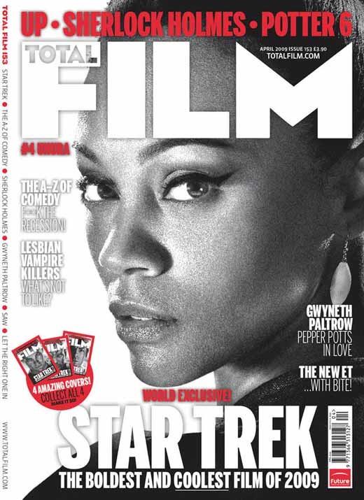Zoe Saldana FILM magazine cover as Uhura