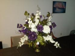 Silk Flower Arrangement - Tall Vase