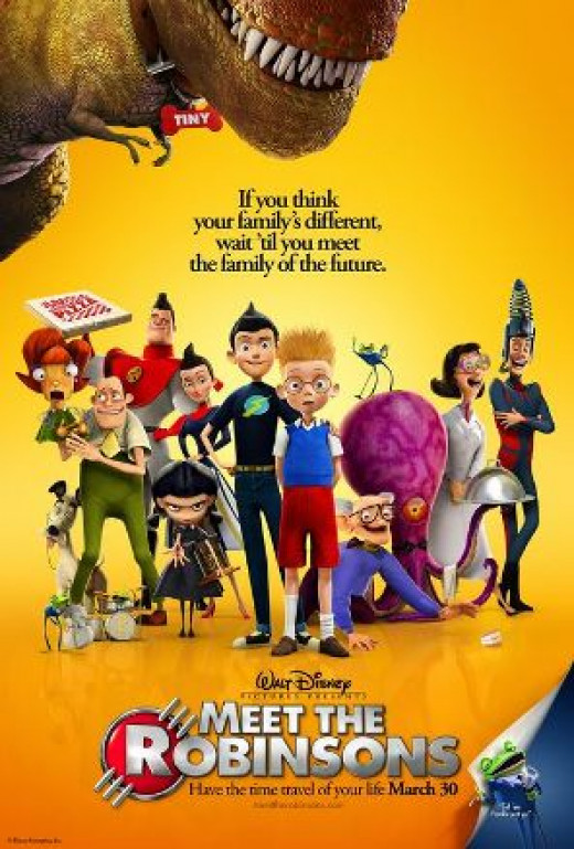 Meet The Robinsons movie poster, with a very appropriate tag line.