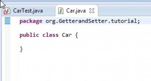 ECLIPSE has created the Car class stub.