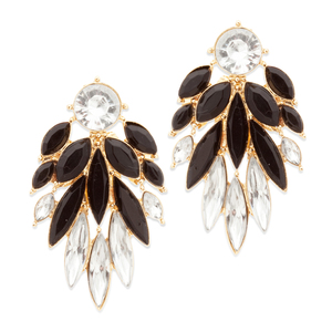 This statement pair will have them oohing and ahhing. Marquis shaped crystals cascade from Mila's circular CZ drop post for dramatic effect.