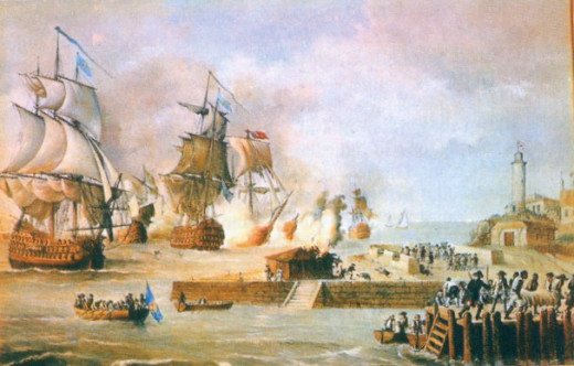 British Army led by Admiral Vernon at Cartegena