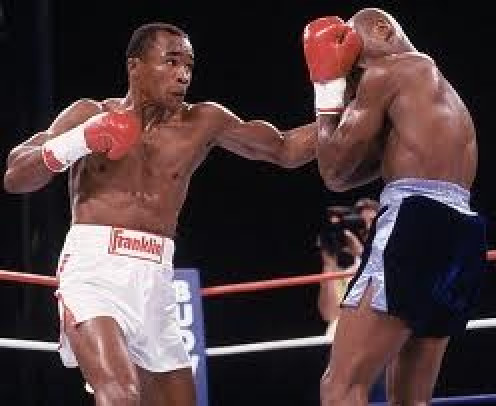 Sugar Ray Leonard, seen here punching Marvelous Marvin Hagler, was on ABC network or HBO for his entire career.