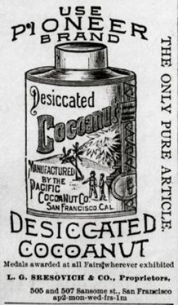 Coconut have been winning awards way.. way back, as seen here with this product from the Pacific CocoaNut Co.
