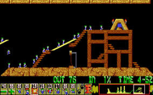 Action from Lemmings.