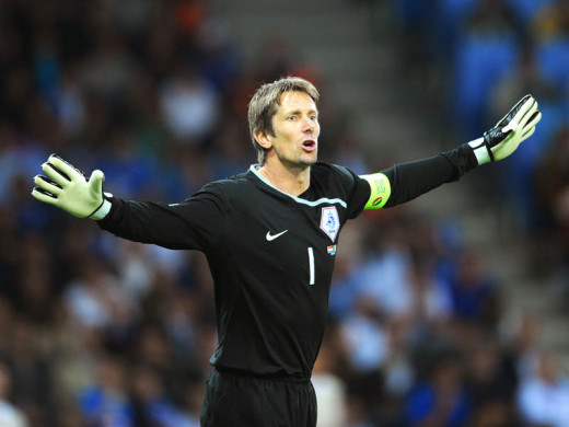 Van Der Sar with Holland