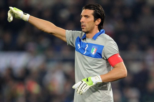 Gigi Buffon with Italy