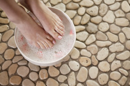 A foot bath costs nothing and feels so good! Make a list of small things to do for yourself to help yourself relax, rejuvenate and beat stress!