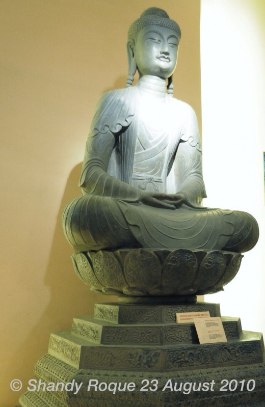 A peaceful looking Buddha from one of Vietnam's royal dynasties