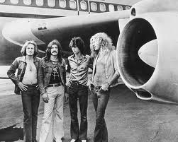 Zeppelin stand next to their own private jet.