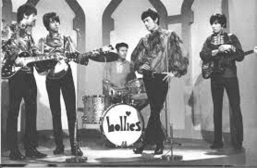 The Hollies on stage.