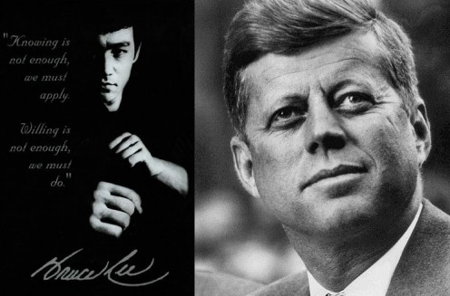 Image of Bruce Lee and John F. Kennedy