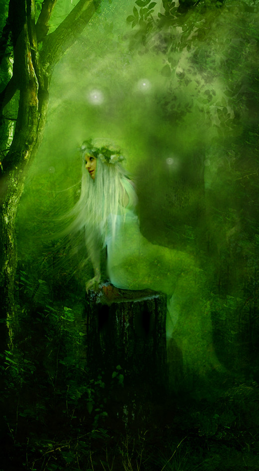 From Deviant art elf_in_mirror provided this beautiful forest sprite. While it is not directing me to leave the forest, it sends telepathic words for me to go away.