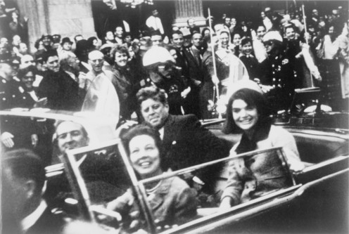 In the Presidential Limousine Seconds Before the Assassination.