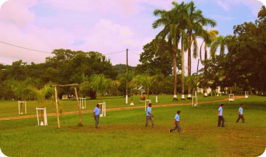 Belizean school kids