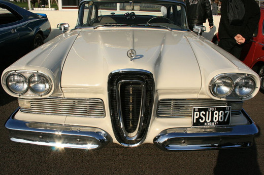 The Ford Edsel had an odd looking grille.