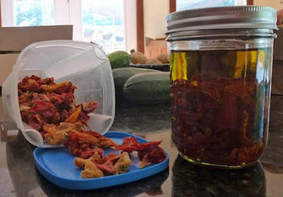 Dried tomatoes serve as a healthy snack or gourmet addition to any recipe.