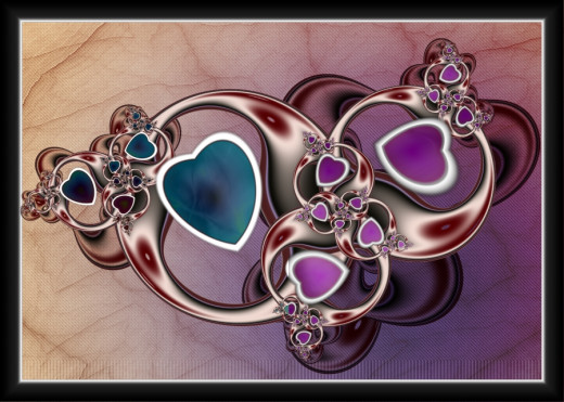 Fractal made for Valentine's Day.
