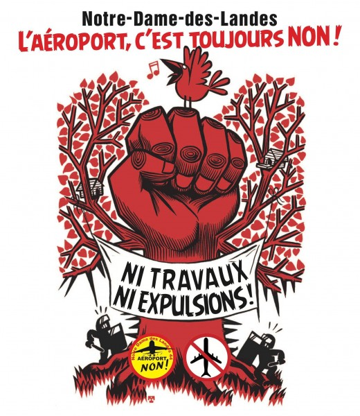 Anti-airpot poster from Notre-Dame-des-Landes