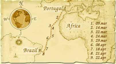 Pedro Alvares Cabral Voyage Map