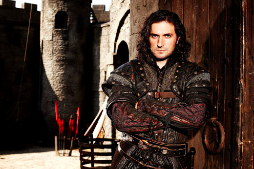 "Richard Armitage as Guy of Gisborne in BBC's ""Robin Hood,"" series 3 (2006).  Image courtesy of richardarmitagenet.com"