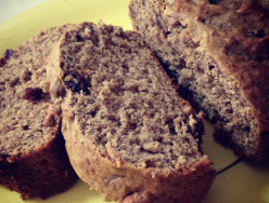 Olive Oil Banana Bread with Flaxseed and Raisins