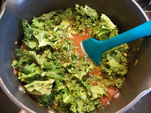 Add Kale and stir.