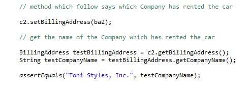 The two created method and the assertEquals completes the coding.