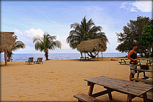 The beach at the Driftwood Bar