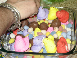 Peep Casserole (yeah, that's a thing) dessert recipe for Spring holidays
