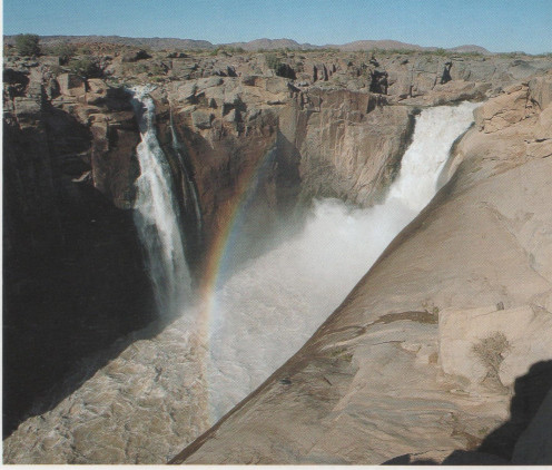 The Orange River with a roaring torrent